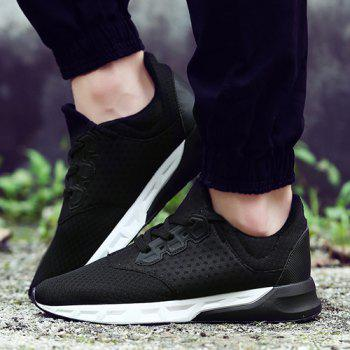 Fashionable Solid Color and Mesh Design Men's Athletic Shoes - 42 42