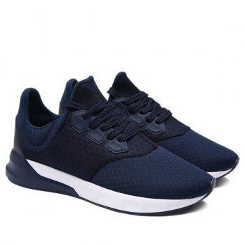 Fashionable Solid Color and Mesh Design Men's Athletic Shoes - 44 44