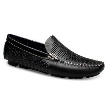 Leisure Hollow Out and Solid Color Design Men's Loafers