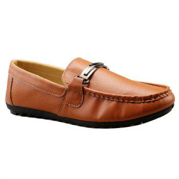Fashion Solid Colour and Metal Design Men's Casual Shoes