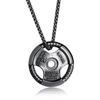 Alloy Round Pendant Necklace