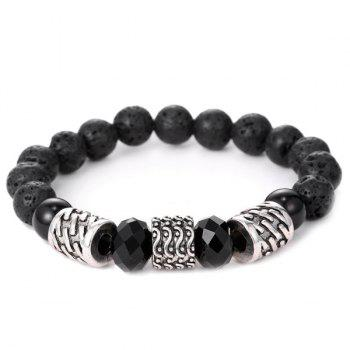 Carving Cylinder Buddha Beads Bracelet Men