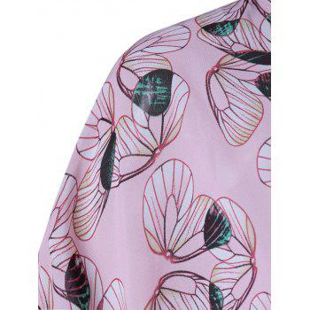 Trendy Collarless Print Thin Blouse For Women - SHALLOW PINK M