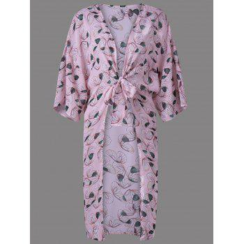 Trendy Collarless Print Thin Blouse For Women