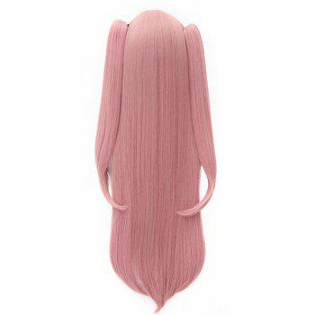 Chic Krul Tepes Cosplay Synthetic Full Bang Long Bunches Wig - RED