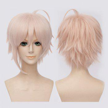 Fluffy Idolish7 Cosplay Synthetic Full Bang Short Wig - LIGHT PINK