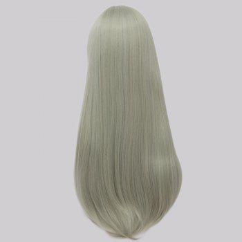 Fashion Synthetic Honma Meiko Cosplay Straight Long Wig - LIGHT GREEN