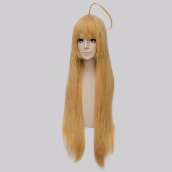 Fashion Straight Synthetic Cosplay Long Straight Wig - GOLDEN