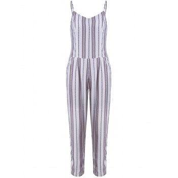 Chic Striped Sleeveless Jumpsuit For Women