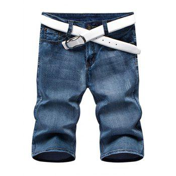 Men's Summer Zip Fly Straight Legs Denim Shorts