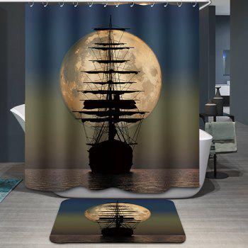 Hot Sale Moon Sailing Pattern Printing Waterproof Shower Curtain - COLORMIX COLORMIX