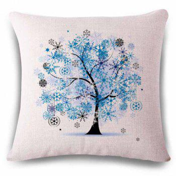 Fantasy Frost Flower Decoration Tree Color Drawing Pattern Pillowcase