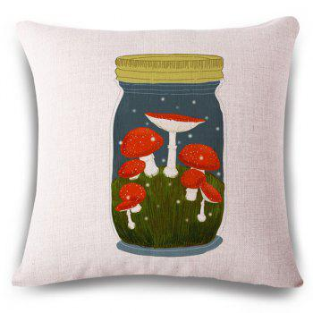 Hot Sale Mushroom Glassland Bottle Pattern Square Shape Pillowcase