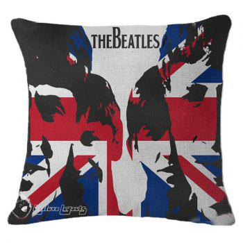 Fashionable The British Flag Letter Design Linen Pillowcase