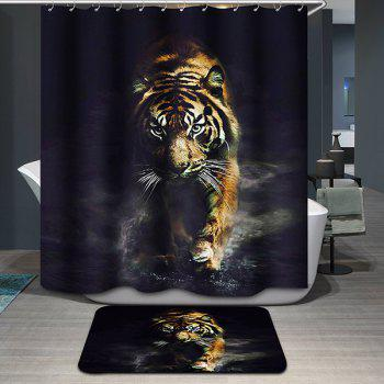 Tiger Pattern Printing Waterproof Shower Curtain - COLORMIX COLORMIX