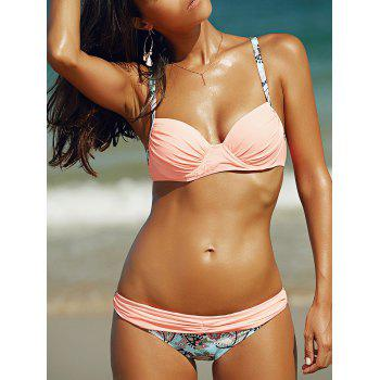 Print Panel Bowknot Paisley Bikini Set For Juniors
