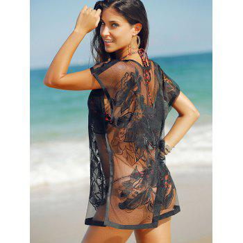 Trendy See-Through Laced Cover Up For Women - ONE SIZE(FIT SIZE XS TO M) ONE SIZE(FIT SIZE XS TO M)