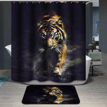 Tiger Pattern Printing Waterproof Shower Curtain