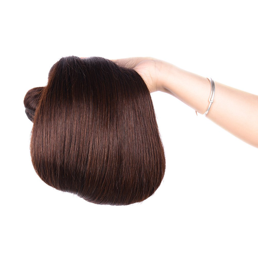1 Pcs Prevailing Silky Straight Deep Brown 6A Virgin Brazilian Hair Weave For WomenHair<br><br><br>Size: 12INCH<br>Color: DEEP BROWN