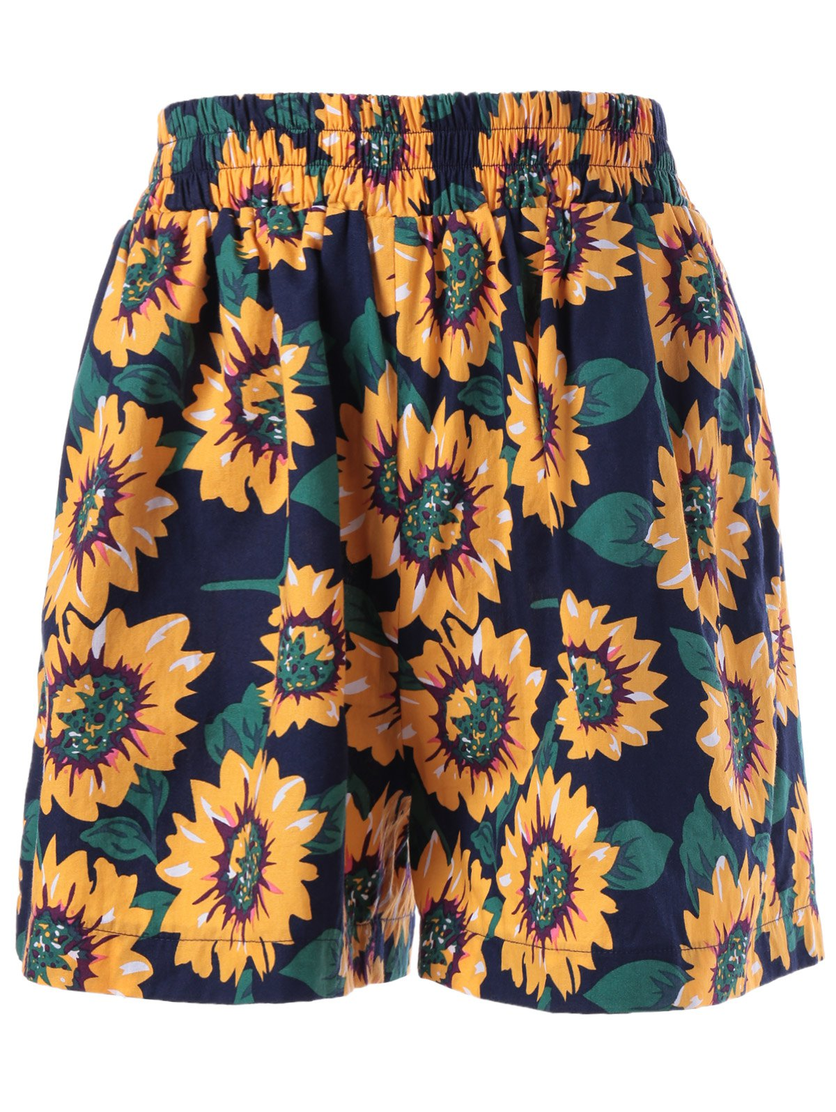 цены Stylish Printing Elastic Waist Shorts For Women