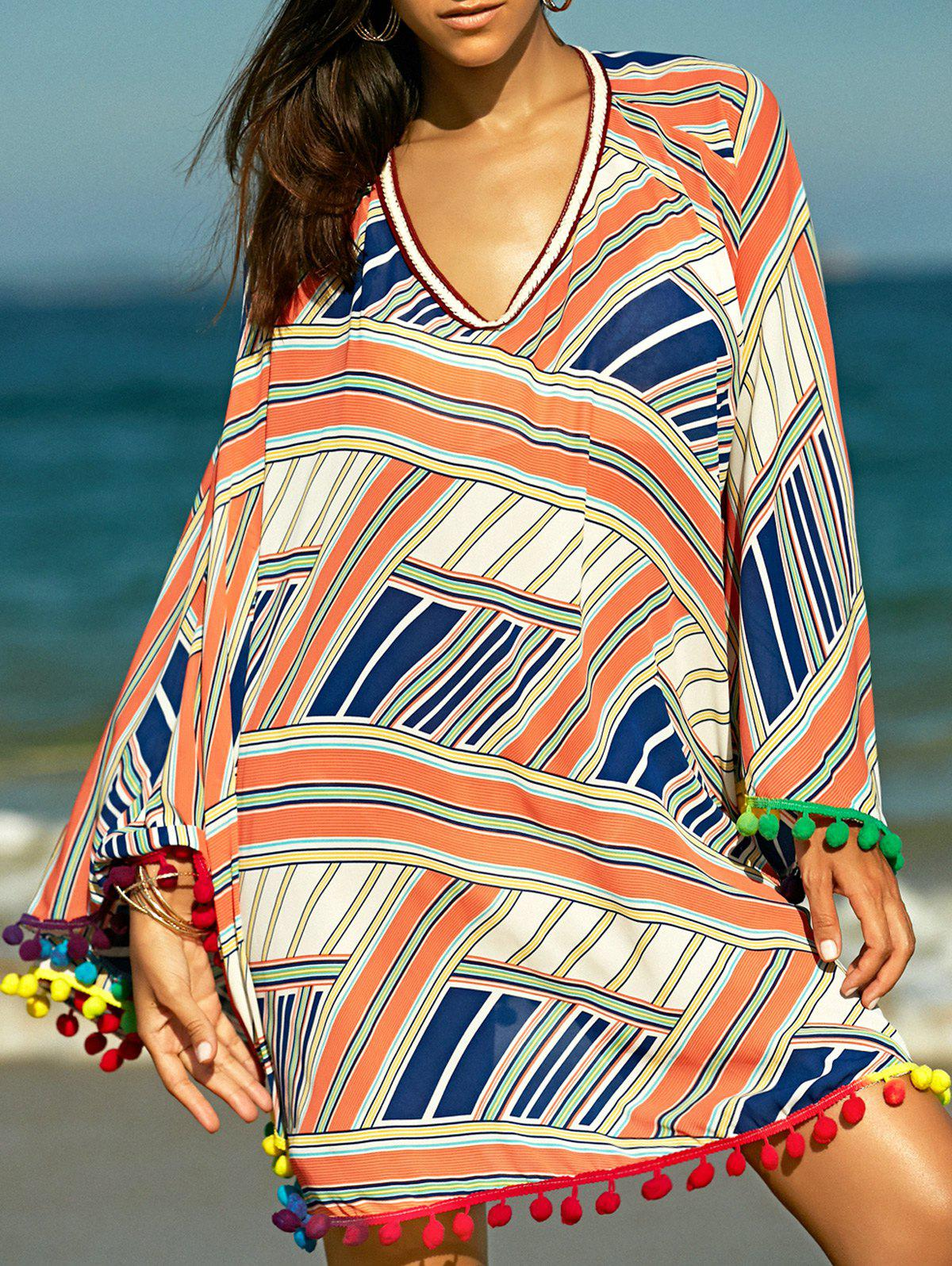 Trendy Ethnic Print Cover-Up For Women - COLORMIX ONE SIZE(FIT SIZE XS TO M)