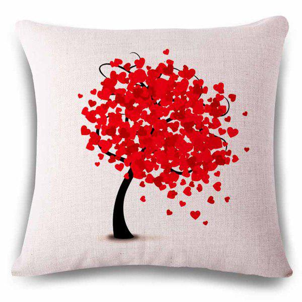 Hot Sale Heart Shape Decoration Tree Color Drawing Pattern Pillowcase hot sale colored drawing italy flag pattern resin craft artificial skull decoration