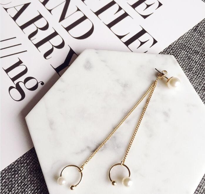 One Piece Elegant Faux Pearl Layered Ear Cuff For Women - GOLDEN