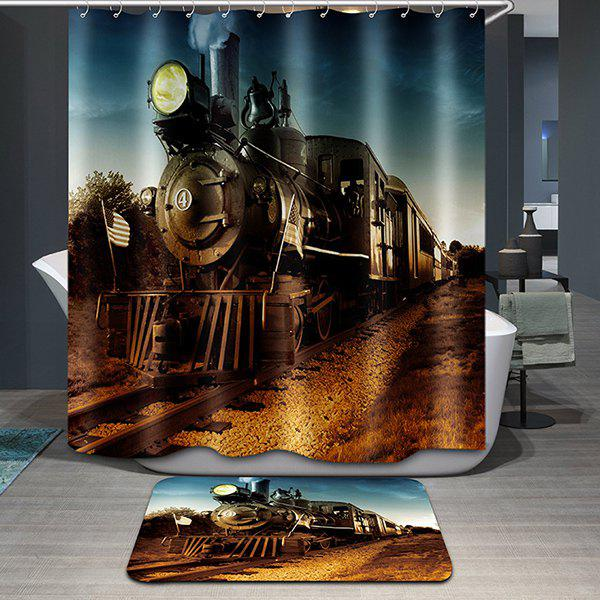 Hot Sale Train Pattern Printing Waterproof Shower Curtain - COLORMIX