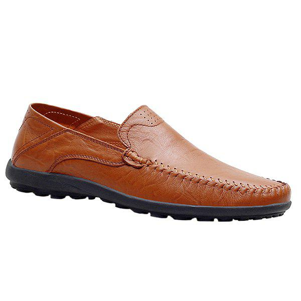 Stylish Stitching and Solid Color Design Men's Casual Shoes