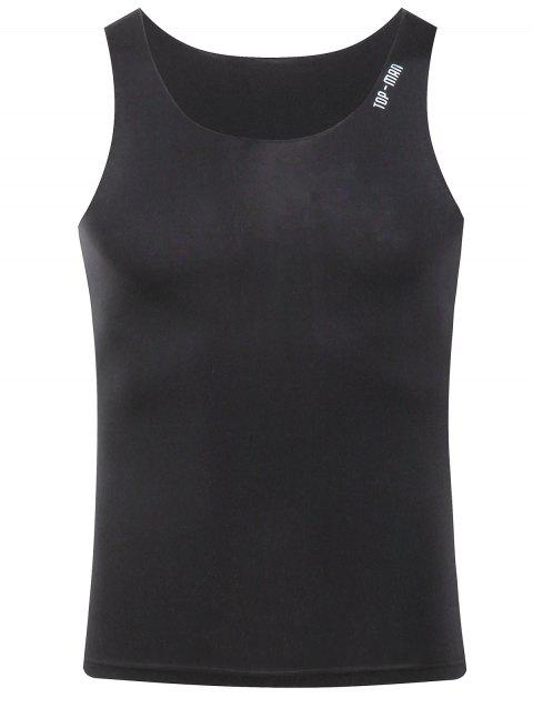 Men's Casual Solid Color Tank Top - BLACK 2XL