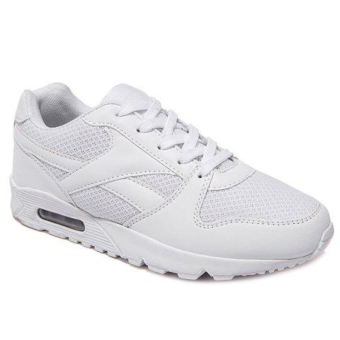 Stylish Tie Up and White Color Design Mens's Athletic Shoes - WHITE 43