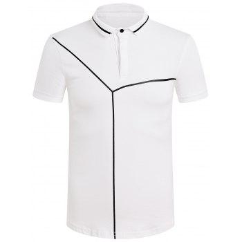 Men's Slim Fit Solid Color Polo T-Shirt