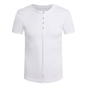 Men's Slimming Stand Collar Solid Color T-Shirt