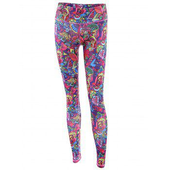 Trendy Printed Multicolor High Stretchy Women's Yoga Pants