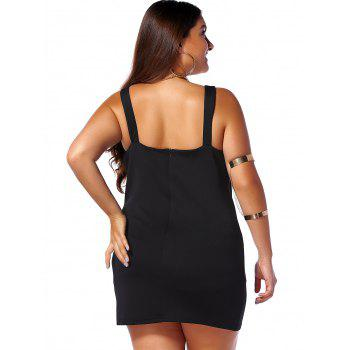 Plus Size V Neck Sleeveless Open Back Dress - BLACK 5XL