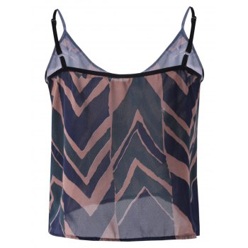Slip Geometric Crop Top and Skirt Set - BLACKISH GREEN ONE SIZE(FIT SIZE XS TO M)