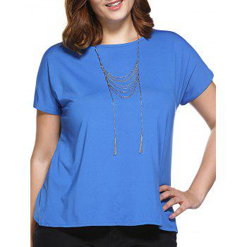 Stylish Women's Slimming Round Neck Tulip Plus Size Top
