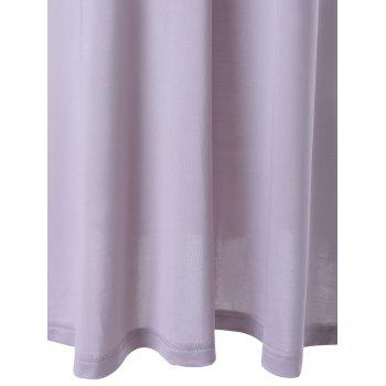 Trendy Hang A Neck Backless Dress For Woman - LIGHT GRAY S