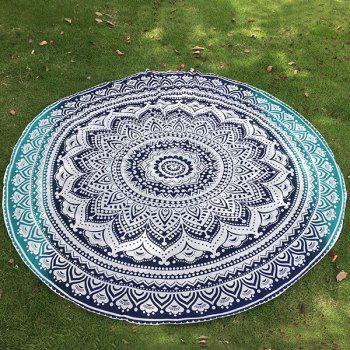 Bohemian Bikini Boho Swimwear Lotus Flower Totem Printed Chiffon Round Beach Throw Scarf