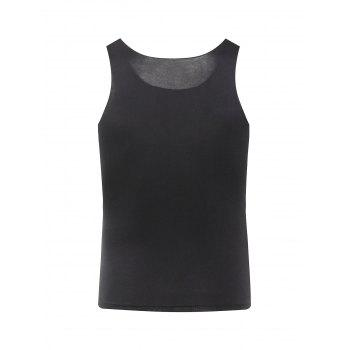 Men's Casual Solid Color Tank Top - BLACK M