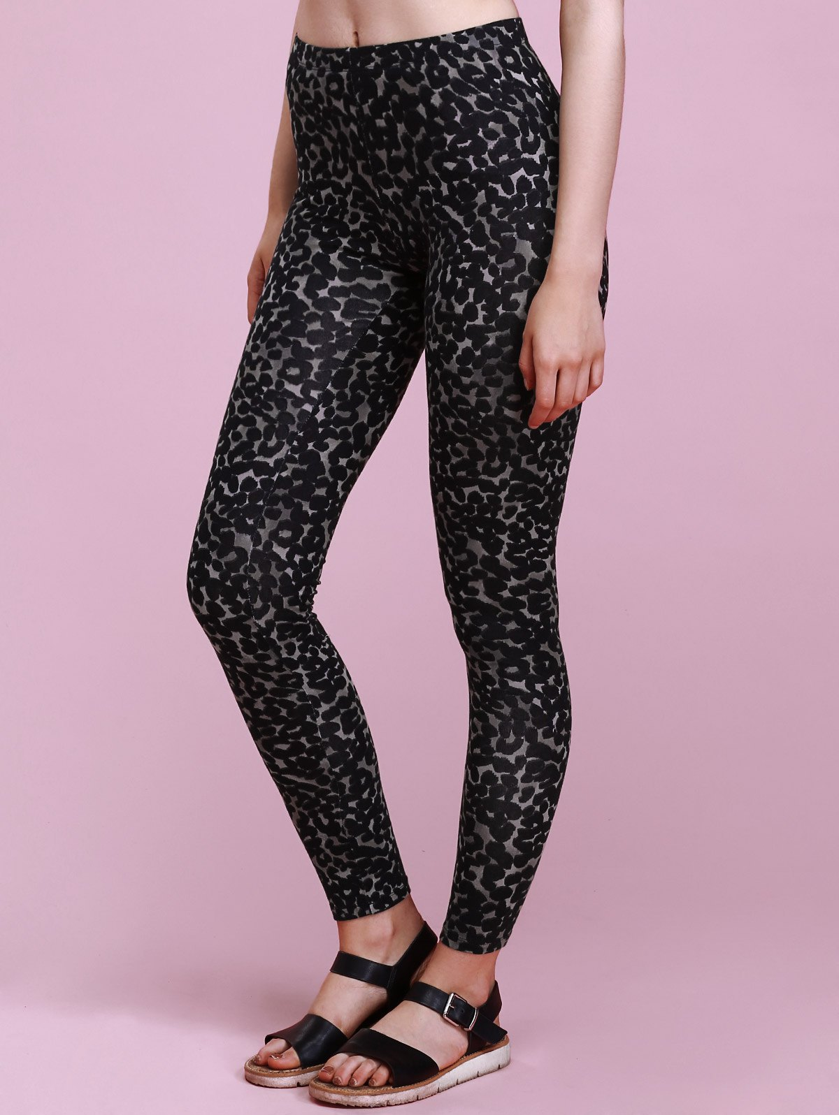 Trendy High-Waisted Skinny Slimming Stretchy Leopard Print Women's Pants leopard print skinny scarf