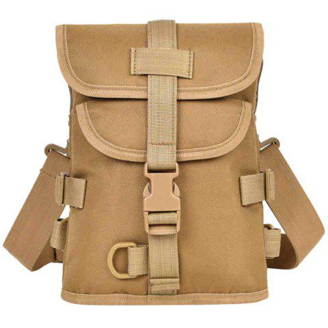 Fashionable Solid Color and  Design Men's Backpack - LIGHT BROWN