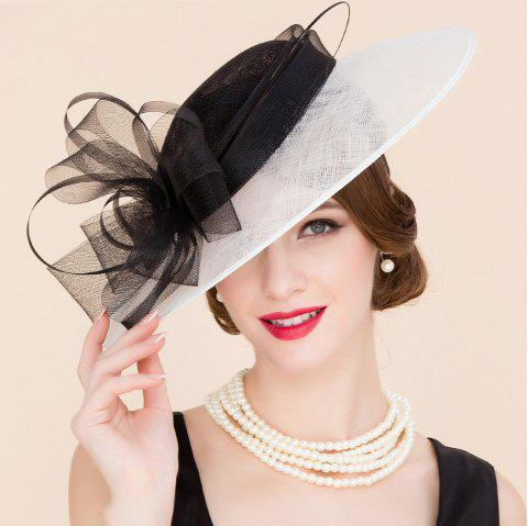 4dd21cd342d10 Elegant Lady Flower and Feather Design Wedding Tea Party Fascinator  Cocktails Hat - BLACK