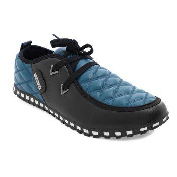 Stylish Colour Block and Plaid Design Men's Casual Shoes