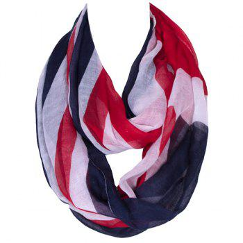 Stylish England Flag Pattern Women's Voile Infinite Scarf