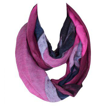 Stylish Women's Five-Pointed Star Pattern Voile Circle Loop Infinite Scarf