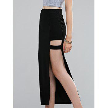 Stylish Women's High-Waisted High Slit Midi Skirt