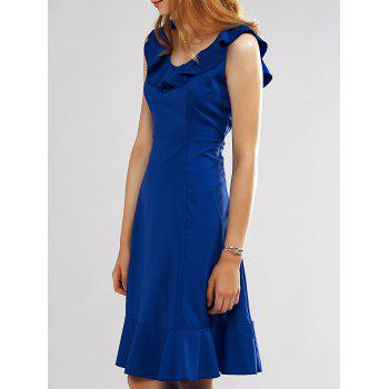 Sleeveless Flounce Elegant Women's Midi Dress