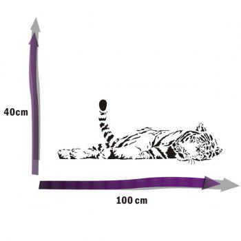 Exquisite Removable Bedroom Tiger Decoration Wall Art Sticker - BLACK