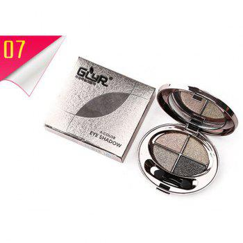 Cosmetic 4 Colours Smooth Shimmery Diamond Eyeshadow Palette with Mirror and Brush